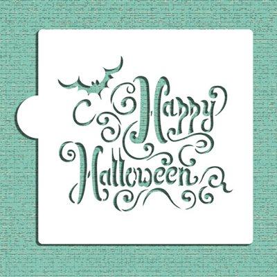 Happy Halloween Lettering Cookie Stencil