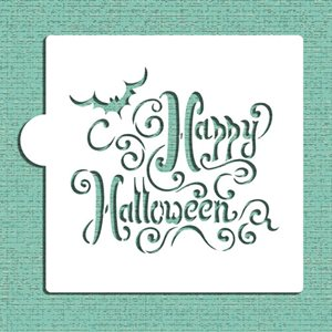 Happy Halloween Lettering Cookie Stencil
