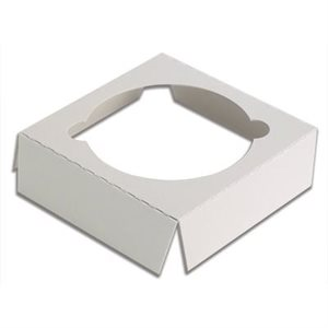 "White Cupcake Insert Only Holds 1 Standard Cupcake 4"" x 4"" Box- 1 PC"