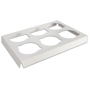 White Cupcake Insert Only Holds 6 Standard Cupcakes- 1 PC