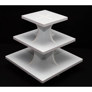 Square 3 Tier Cupcake Stand