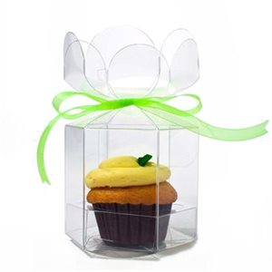 Cupcake or Candy Apple Flower Top Box