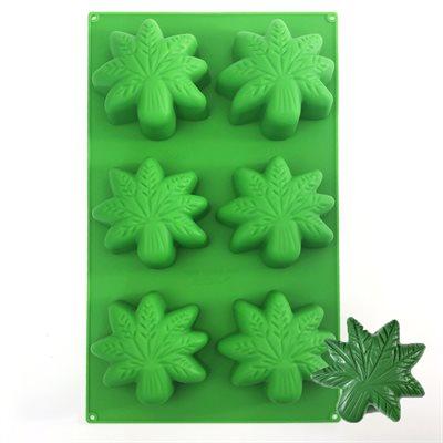Marijuana Cannabis Leaf Silicone Baking Mold BY NY CAKE