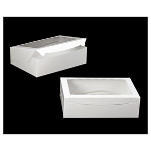 White Cupcake Box Holds 12 Standard Cupcakes