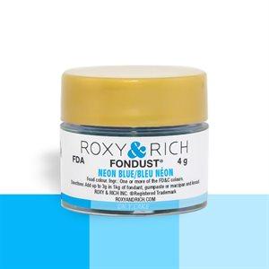 Neon Blue Fondust Food Coloring By Roxy Rich 4 gram