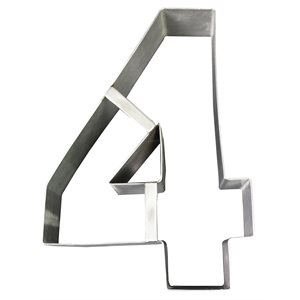 "Stainless Steel Number Mold ""4""- 8 1 / 2"" x 5 1 / 2"" x 2"" Deep"