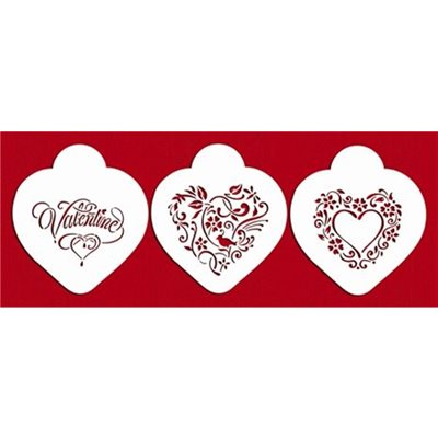 Be My Valentine Heart Cookie Stencil By Designer Stencils