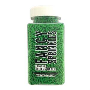 Vegan Bright Green Crunchy Jimmies 4 Oz Jar