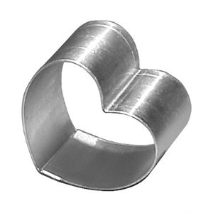 Heart Cake Ring Stainless Steel 6 x 2 Inch