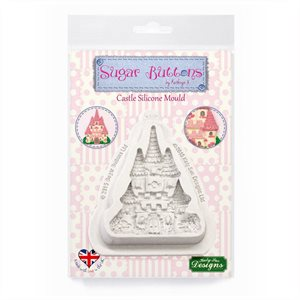 Castle Sugar Buttons Silicone Mold By Katy Sue