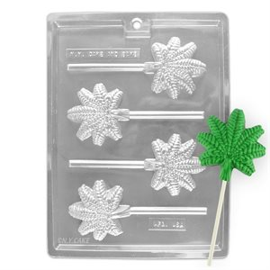Marijuana Cannabis Leaf Chocolate Lollipop Mold