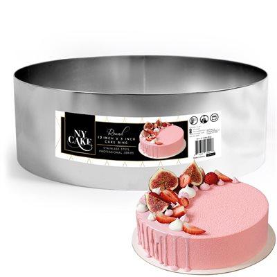 NY Cake Round Cake Ring 12 x 3