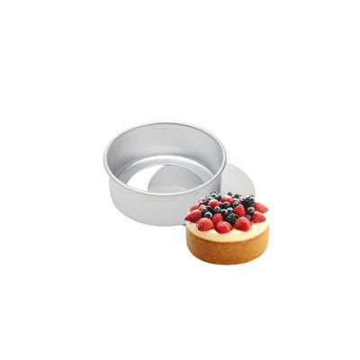 Removable Bottom Round Cake Pan 3 by 2 Inch Deep