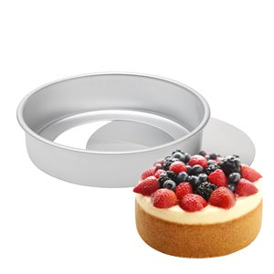 Removable Bottom Round Cake Pan 6 by 2 Inch Deep
