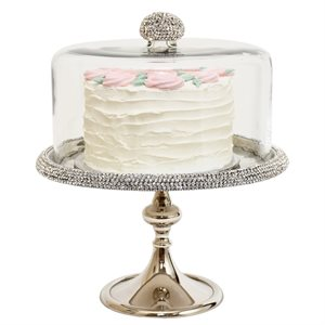 NY Cake Silver Stand w / Diamonds 12 1 / 4""