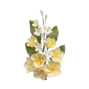 Yellow Plumeria Spray Sugar Flowers