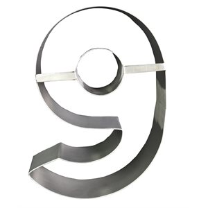 "Stainless Steel Number Mold ""9""- 8 1 / 2"" x 5 1 / 2"" x 2"" Deep"