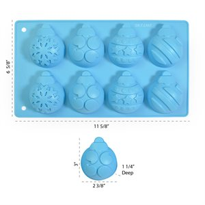 Christmas Theme Ornaments Silicone Pan