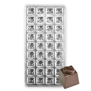 Square with Coffee Bean Polycarbonate Chocolate Mold