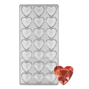 Geo Heart Polycarbonate Chocolate Mold