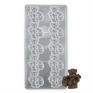 Bear With Basket Polycarbonate Chocolate Mold