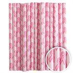 Pink Ribbon Cake Pop Sticks- 6 Inch -Pack of 25