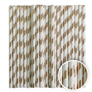 Metallic Gold Stripe Cake Pop Sticks- 6 Inch -Pack of 25