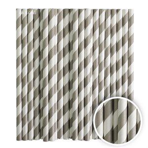 Silver Stripe Cake Pop Sticks- 6 Inch -Pack of 25