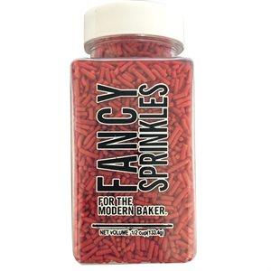 Vegan Red Crunchy Jimmies 4 Oz Jar