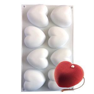 Pillow Heart Silicone Baking & Freezing Mold 3.2 oz.