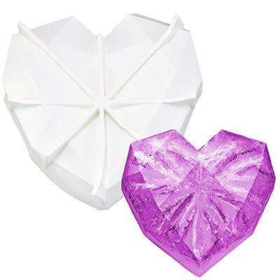 Large Diamond Heart Silicone Baking-1 Cavity  & Freezing Mold.