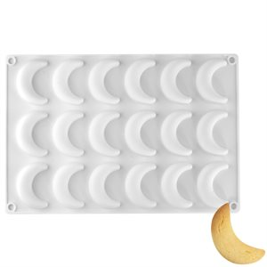 Crescent Moon Silicone Baking Mold - 18 Cavity