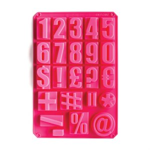 Silicone Baking Mold-Numbers & Social Media Icons