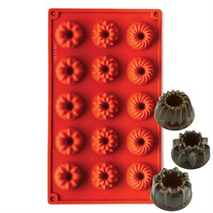 Mini Assorted Bundts Silicone Novelty Bakeware