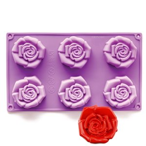 Open Rose Silicone Novelty Bakeware