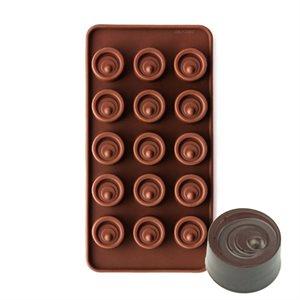 Swirled Cylinder Vertigo Silicone Chocolate Mold