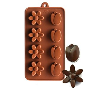 Tuilp and Daisy Silicone Chocolate Mold