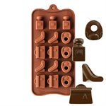 Ladies High Heel Shoe and Purse Silicone Chocolate Mold