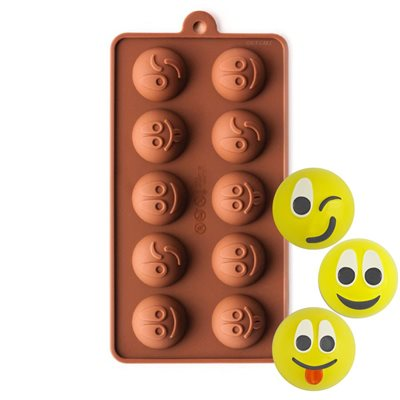 Mini Happy Faces Emoji Silicone Chocolate Mold