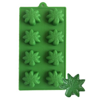 Marijuana Cannabis Leaf Silicone Chocolate Mold