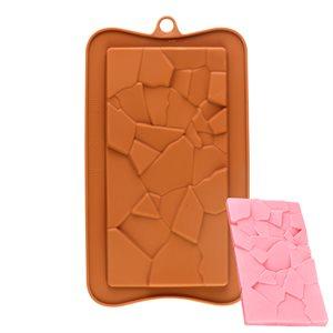 Hard Cracked Bar Silicone Chocolate Mold