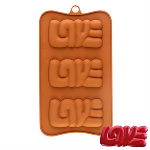 Love Silicone Chocolate Mold - 3 Cavity
