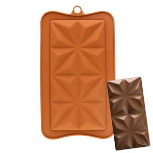 Squared Star Silicone Chocolate Mold