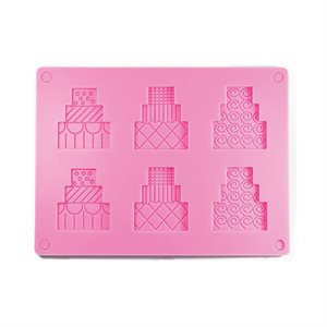 Wedding Cake Silicone Chocloate Mold 2 Piece
