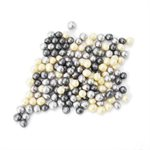 Silver Chocolate Pearls 4mm