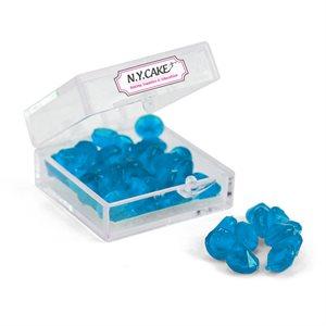 Edible Sugar Diamonds Blue Extra Small D1 38 Pieces