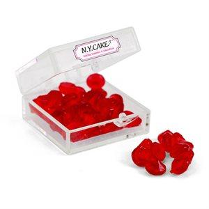 Edible Sugar Diamonds Red Extra Small D1 38 Pieces