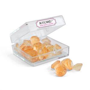 Edible Sugar Diamonds Orange Extra Small D2 28 Pieces