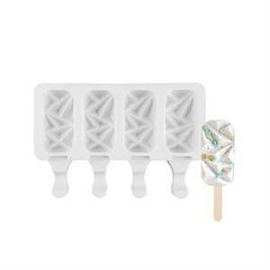 "Mini Size Silicone Mold for Cakesicles, ""Gem"" Shape-4 Cavity"
