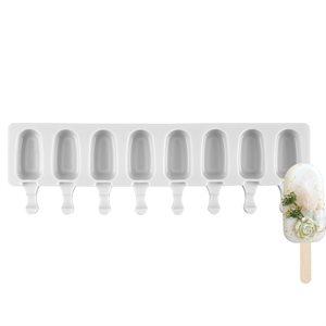 Mini Size Silicone Mold for Ice Cream Pops,Premier Shape-8 Cavity
